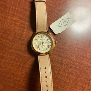 Fossil watch rose gold woman's